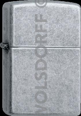 Zippo 60001192 #121 Antique Silver Plate™ Finish