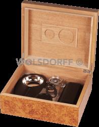 Humidor-Set Wurzelholz für ca. 40 Zigarren