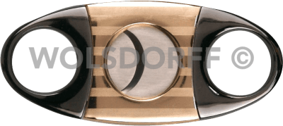 Zigarrenabschneider gun/gold satiniert Streifen 23mm