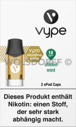 Vype ePod Caps vPro Chilled Mint 2er