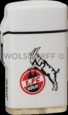 Feuerzeug Rubber Laser weiß 1. FC Köln