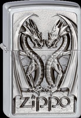 Zippo 2002728 #200 Twins Dragon Heart Emblem