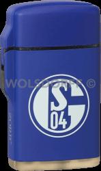Feuerzeug Rubber Laser blau FC Schalke 04