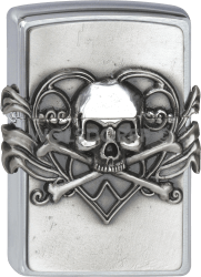Zippo 2001330 #200 Skull with Heart Emblem Anne Stokes