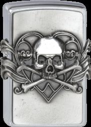Zippo 2001330 #200 Skull with Heart Emblem Anne Stokes