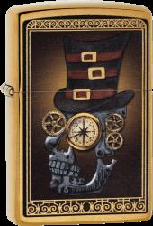 Zippo 60003461 #204B Mechanic Skull With Hat