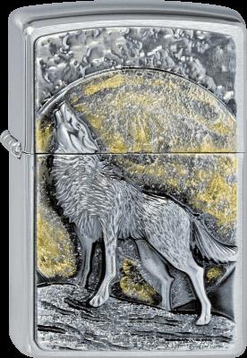 Zippo 2003038 #200 Wolf at Moonlight Emblem