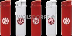 Einwegfeuerzeuge Prestige Rot-Weiss Essen Vereinslogo