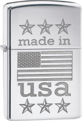 Zippo 60003266 #29430 Made in USA Flag
