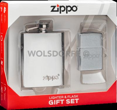 Zippo Feuerzeug im Set mit Flachmann 60005029
