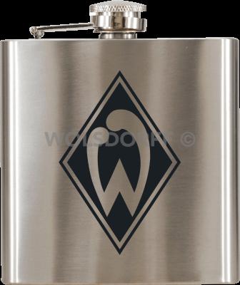 Taschenflasche Werder Bremen Vereinslogo graviert