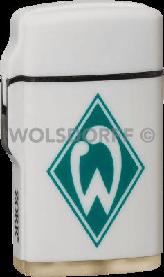 Feuerzeug Rubber Laser weiß Werder Bremen