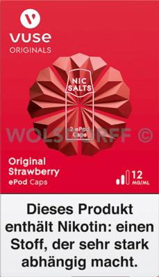 Vuse ePod Caps Nic Salts Original Strawberry 2er