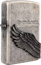 Zippo 390018 You can fly high Antik Silver Plated
