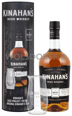 Kinahan's Whiskey Kasc Project Geschenkdose mit Glas