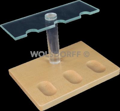 Guy Janot Pfeifenständer Holz/Plexiglas 3-er (7260)