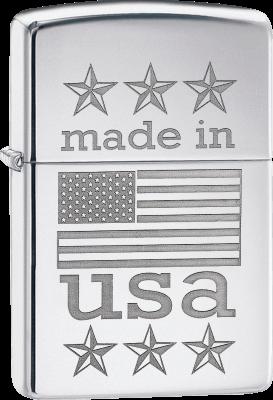 Zippo 60003266 #29430 Made in USA Flag