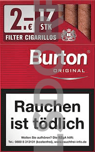 Burton Original Naturdeckblatt L Filter Zigarillo (10x17)