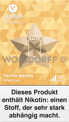 Vuse ePod Caps Nic Salts Vanilla Medley 2er