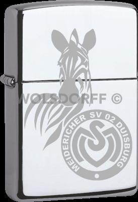 Zippo Chrom poliert MSV Duisburg