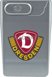 USB Card Lighter silberfarben Dynamo Dresden Vereinslogo
