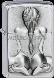 Zippo 2002548 #200 Kneeling Girl Emblem