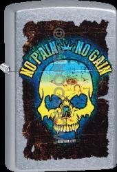 Zippo 60004106 #207 Skull No Pain No Gain