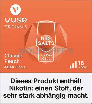 Vuse ePen Caps Nic Salts Classic Peach 2er