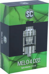 SC Melo 4 D22 Clearomizer 2,0ml silber