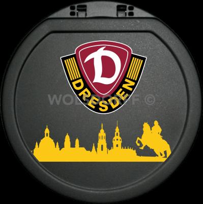 Aschenbecher mit Deckel Dynamo Dresden + Skyline