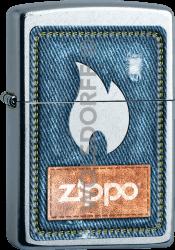 Zippo 60003249 #207 Denim Zippo® and Flame