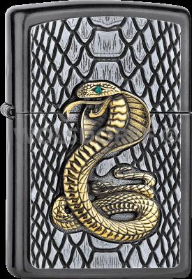Zippo 2005928 #28378 Kobra Gold Gray Emblem