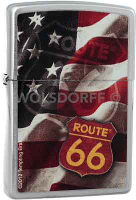 Zippo 810733 Route® 66 Sign / Flag
