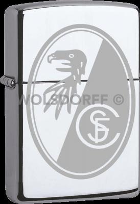 Zippo Chrom poliert SC Freiburg