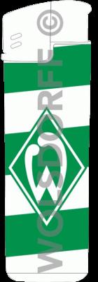 Einwegfeuerzeuge Prestige Werder Bremen mit Label