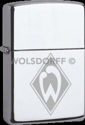 Zippo Chrom poliert Werder Bremen
