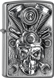 Zippo 2005716 #207 V2 Engine Skull