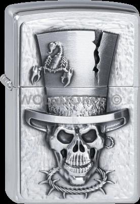 Zippo 2001666 #200 Skull Top Hat Emblem