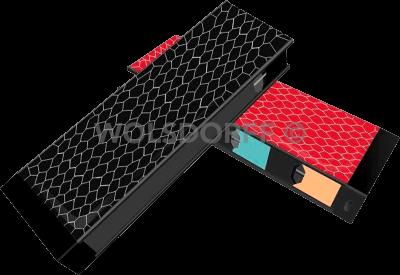 Etui Alu mit Powerbank für JUUL Wabendesign verschiedene Farben