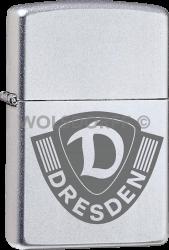 Zippo Chrom satin Dynamo Dresden Vereinslogo Gravur