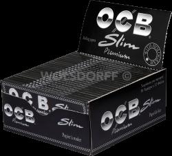 OCB schwarz Premium long slim 32 Blatt