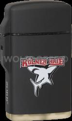 Feuerzeug Rubber Laser schwarz Kölner Haie