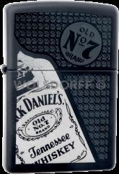 Zippo 2000418 Black Matte Jack Daniel's