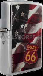 Zippo 810733 Route 66 Flag