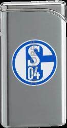 Feuerzeug Tempo Chrom matt FC Schalke 04 Vereinslogo bedruckt