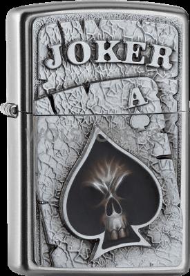 Zippo 2005170 205 Joker Skull Ace Emblem