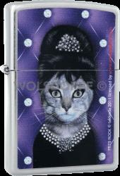 Zippo 810678 Pets Rock Cat Audrey Hepburn