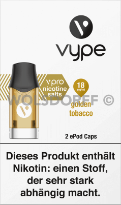 Vype ePod Caps vPro Golden Tobacco 2er