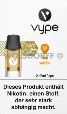 Vype ePod Caps vPro Rich Vanilla 2er
