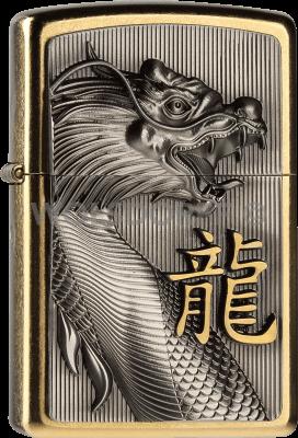 Zippo 2004517 #207G Golden Dragon Emblem